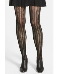 Spanx | Black 'case In Pointelle' Shaping Tights | Lyst