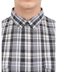 Dior Homme | Black Checked Cotton Poplin Shirt for Men | Lyst