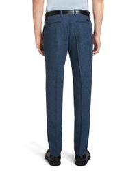 BOSS - Blue 'kaito' | Slim Fit, Wool Blend Melange Dress Pants for Men - Lyst