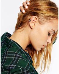 ASOS Black Singles Pyramid Mix Ear Cuffs
