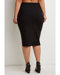 Forever 21 - Black Classic Pencil Skirt - Lyst