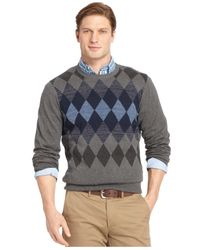 Izod | Gray Centered Diamonds Sweater for Men | Lyst