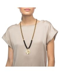 Lulu Frost - Metallic Ocean Medallion Beaded Long Necklace - Lyst