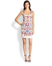 Just Cavalli Multicolor Floral-Print Cutout Sleeveless Dress