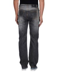 Moschino Jeans Gray Denim Trousers for men