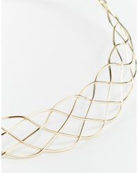 ASOS | Metallic Limited Edition Lattice Collar Necklace | Lyst