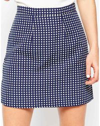 Sugarhill - Multicolor Ugarhill Boutique Hayley Skirt In Spot Jacquard - Lyst