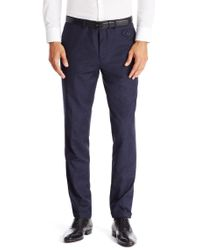 HUGO | Blue 'hilion' | Slim Fit, Cotton Wool Donegal Dress Pants for Men | Lyst