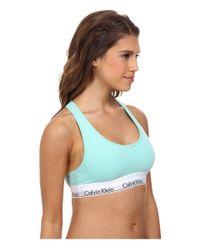 Calvin Klein | Green Modern Cotton Bralette F3785 | Lyst