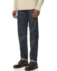 Levi's Blue Ruler Indigo Rigid Jeans for men