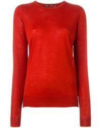 Proenza Schouler - Red Crew Neck Sweater - Lyst