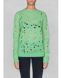 & Other Stories Green Looseknit Pullover