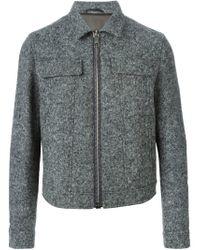 Neil Barrett - Gray Tweed Effect Jacket for Men - Lyst