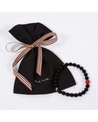 Paul Smith Black Beaded Bracelet for men