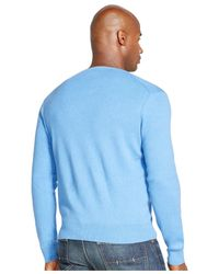 Polo Ralph Lauren - Blue Big And Tall Pima V-neck Sweater for Men - Lyst