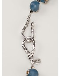 Shebee - Blue Skull Necklace - Lyst