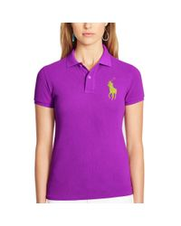 Polo Ralph Lauren | White Skinny-fit Big Pony Polo Shirt | Lyst