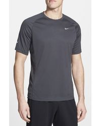 Nike | Gray 'Miler' Dri-Fit T-Shirt for Men | Lyst