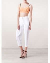 Maiyet White Pleated Trousers