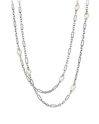 David Yurman | Metallic Bead Necklace With Pearls & Gold | Lyst