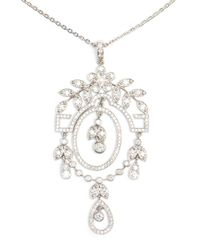 Yvonne Léon White 'Feuilletis' Necklace
