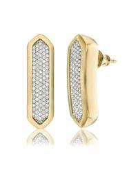 Monica Vinader Metallic Baja Long Stud Earrings