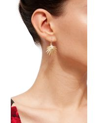 Annette Ferdinandsen - Metallic Small Fan Palm Earrings - Lyst