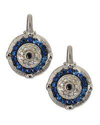 Judith Ripka | Blue Sapphire Evil Eye Wire Earrings | Lyst