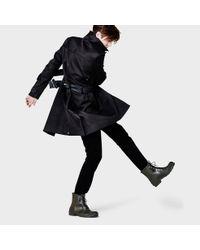 HUNTER Black Original Bonded Cotton Raincoat for men