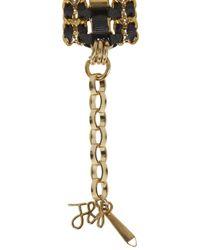 John & Pearl | Metallic Alana Crystal Embellished Bracelet | Lyst
