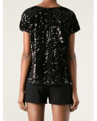 Zadig & Voltaire - Black Trusty Sequins Top - Lyst