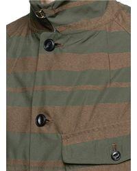 Kolor | Green Stripe Military Coat for Men | Lyst