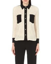 See By Chloé | Black Embroidered Lace Shirt | Lyst