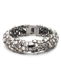 Alexis Bittar | Metallic Empire Small Pavo Crystal Encrusted Hinge Bracelet | Lyst