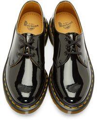 Dr. Martens Black Patent Leather 1461 Derbys