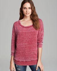 Splendid Red Sweatshirt Burnout