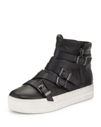 Ash - Black Jet Leather High-top Sneaker - Lyst