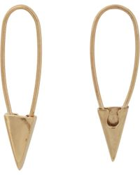 Loren Stewart | Metallic Gold Safety Pin Hoop Earrings | Lyst