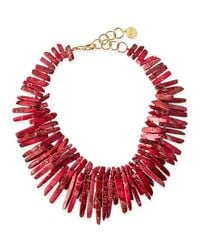 Nest | Double-strand Pink Jasper Point Fringe Necklace | Lyst