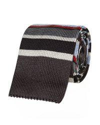 Paul Smith - Multicolor Multi Stripe Knitted Tie for Men - Lyst