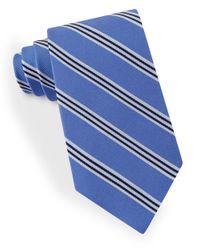 Lord & Taylor - Blue Racer Stripe Tie for Men - Lyst