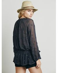 Free People | Gray Womens Embellished Wrap Tunic | Lyst