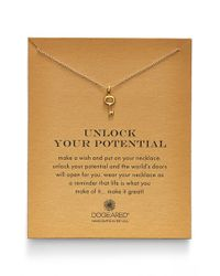 Dogeared Metallic 'Reminder - Unlock Your Potential' Key Pendant Necklace