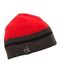Calvin Klein | Red Reversible Knit Beanie for Men | Lyst