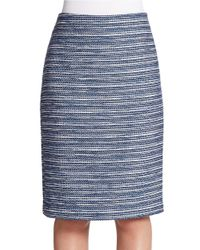 424 Fifth Blue Boucle Pencil Skirt