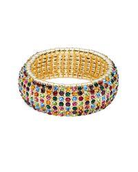 R.j. Graziano | Metallic Multi-colored Crystal Stretch Bracelet | Lyst
