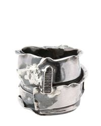 Emanuele Bicocchi - Metallic Sterling Silver Ring for Men - Lyst