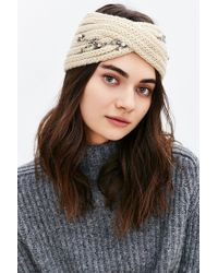 Urban Outfitters | White Embellished Twist Ear Warmer | Lyst