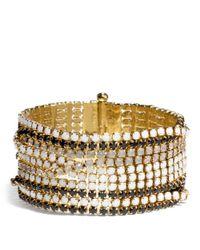 COACH - Black Intertwined Cupchain Bracelet - Lyst