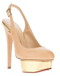 Charlotte Olympia Natural 'dolly' Slingback Pumps